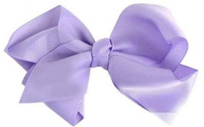 "Grosgrain 6"" Lavender Hair Bow"