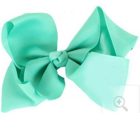 "Grosgrain 6"" Mint Hair Bow"
