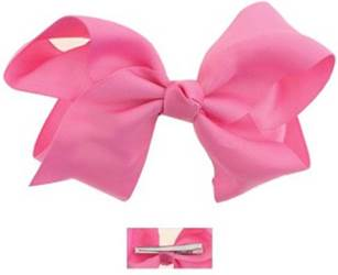 "Grosgrain 6"" Pink Hair Bow"