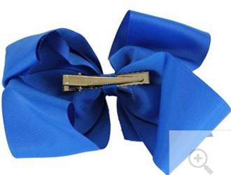"Grosgrain 6"" Royal Blue Hair Bow"