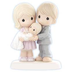 """Grow In The Light Of His Love"" Precious Moments Figurine new baby gift, new baby, baptism, baptism gift, christening, christening gift, precious moments baptism, figurine, baptism figurine, christening figurine"