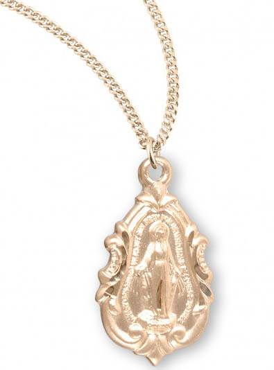Gold Over Sterling Fancy Baroque Miraculous Pendant