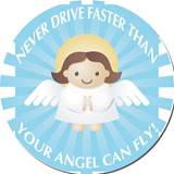 Guardian Angel Car Magnet