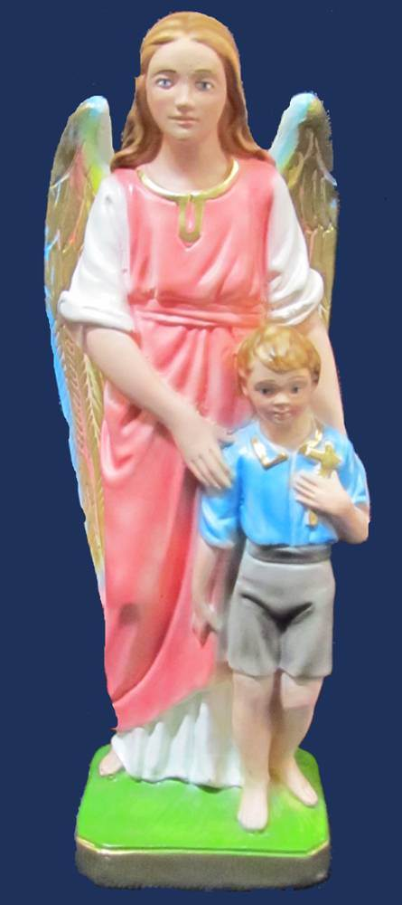 Guardian Angel and Boy Statue