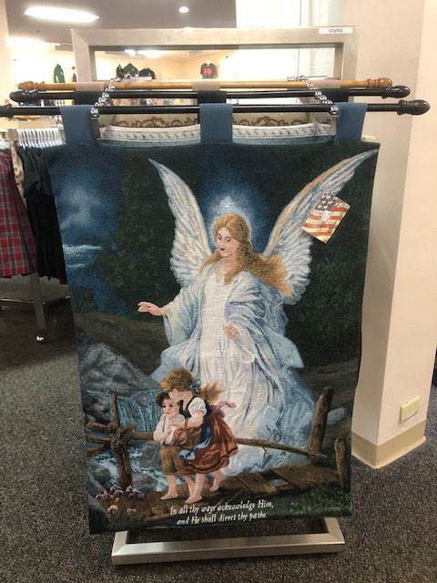Guardian Angel with Children Wall Tapestry with Rod