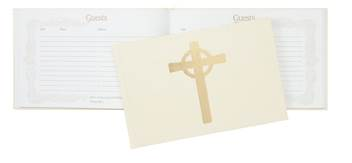 "Guest Book Cream 112 Pages 9.5"" X 6"""
