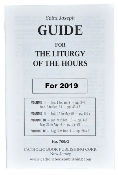 Guide for Liturgy of the Hours *LARGE PRINT*