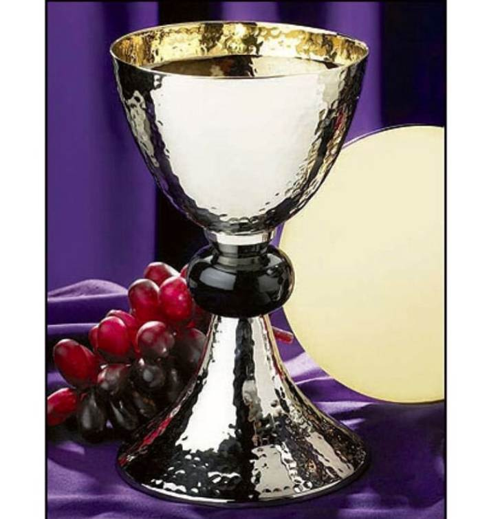 Hammered Chalice with Paten