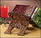 Hand Carved Wood Bible or Missal Stand