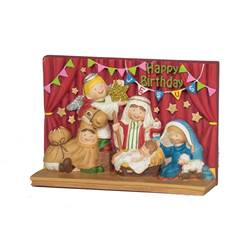 Happy Birthday Jesus Figurine childrens nativity christmas pageant
