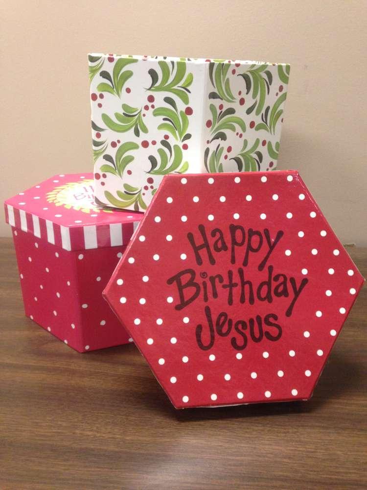 Happy Birthday Jesus Hat Box