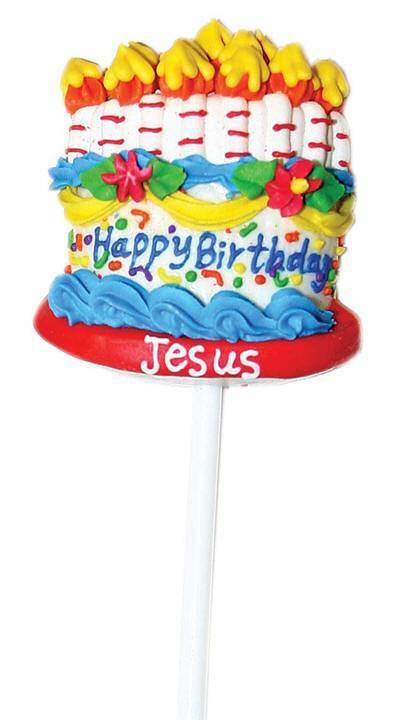 Happy Birthday Jesus Lollipop