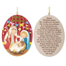 Happy Birthday Jesus Ornament