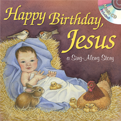 Happy Birthday Jesus Sing Along Book book, sing along, book and CD, christmas book, childrens book, stocking stuffer, christmas gift,0254
