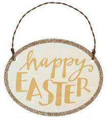 Happy Easter Metal Sign