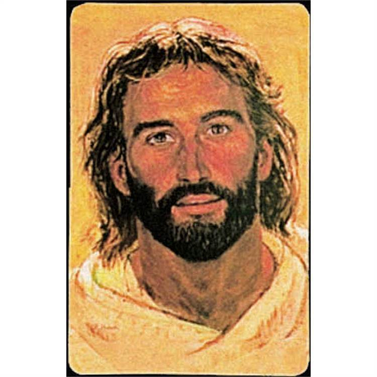 Hook's Head of Christ Prayer Card Holy Card