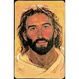 Hooks Head of Christ Prayer Card Holy Card