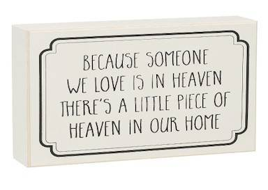Heaven in Home Box Sign