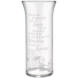 Heaven in Our Home Glass Vase