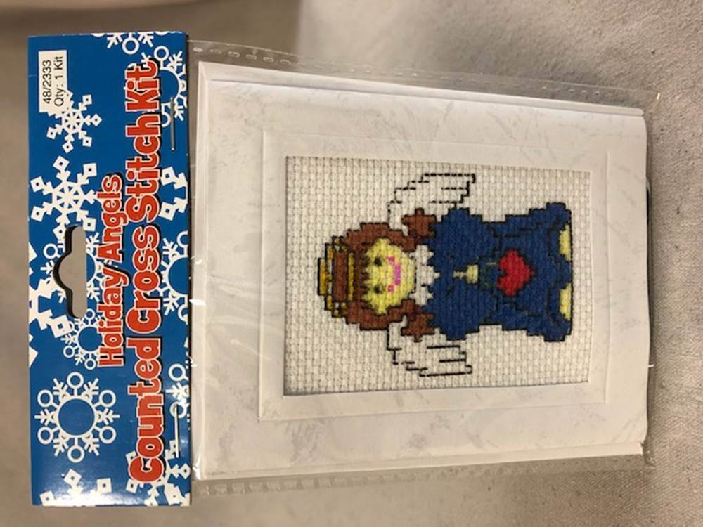 Holiday Angels Counted Cross-Stitch Kit | CATHOLIC CLOSEOUT