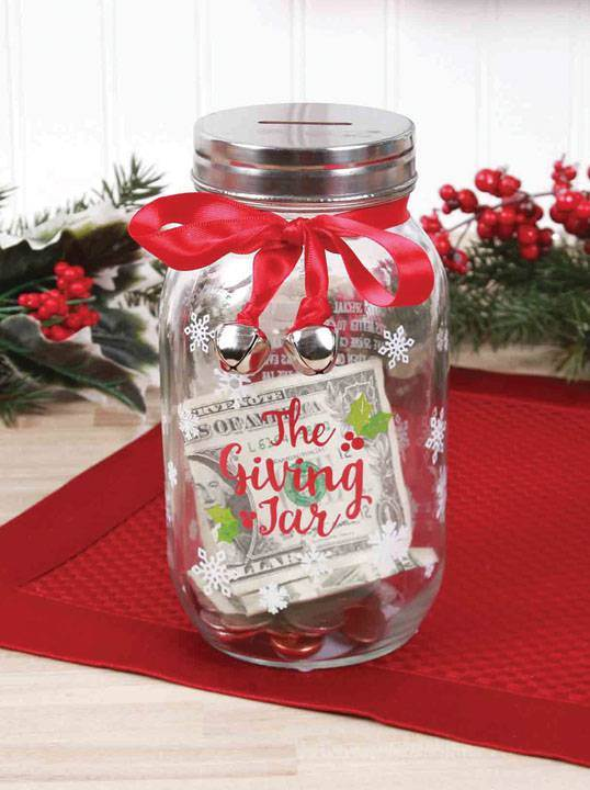 Holiday Giving Jar *WHILE THEY LAST* christmas gift, giving jar, holiday jar, collection jar, spirit of giving, holiday gift, prayer jar, money jar, 81812