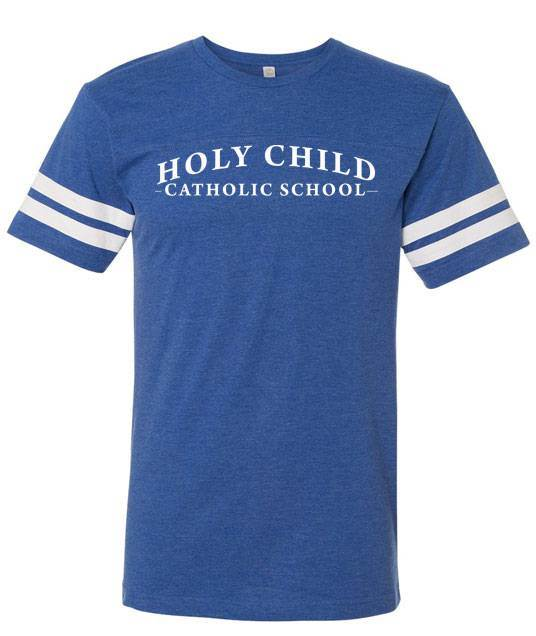 Holy Child Football Jersey Tee with White Logo *SPIRITWEAR*