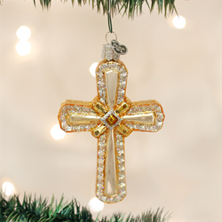 Holy Cross Glass Ornament