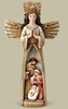 Holy Family Cross Figure nativity, holy family, holy family figure, holy family statue, mary, joseph, jesus, angel, cross, chirstmas gift, 31424