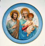 Holy Family High Relief Medallion