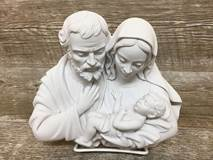 Holy Family Marble Resin Relief