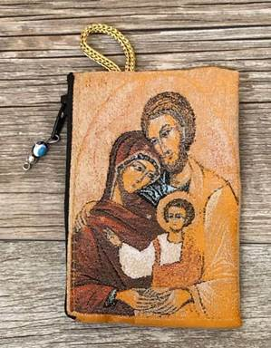Holy Family Rosary Pouch from Turkey