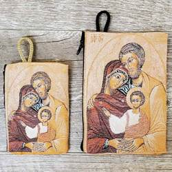 Holy Family Woven Rosary Pouch from Turkey