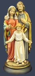 Holy Family Statue solid wood statue, hand carved statue, italian made state, maple wood statue, home decor, church decor, colored statue, holy family statue, 5080/25