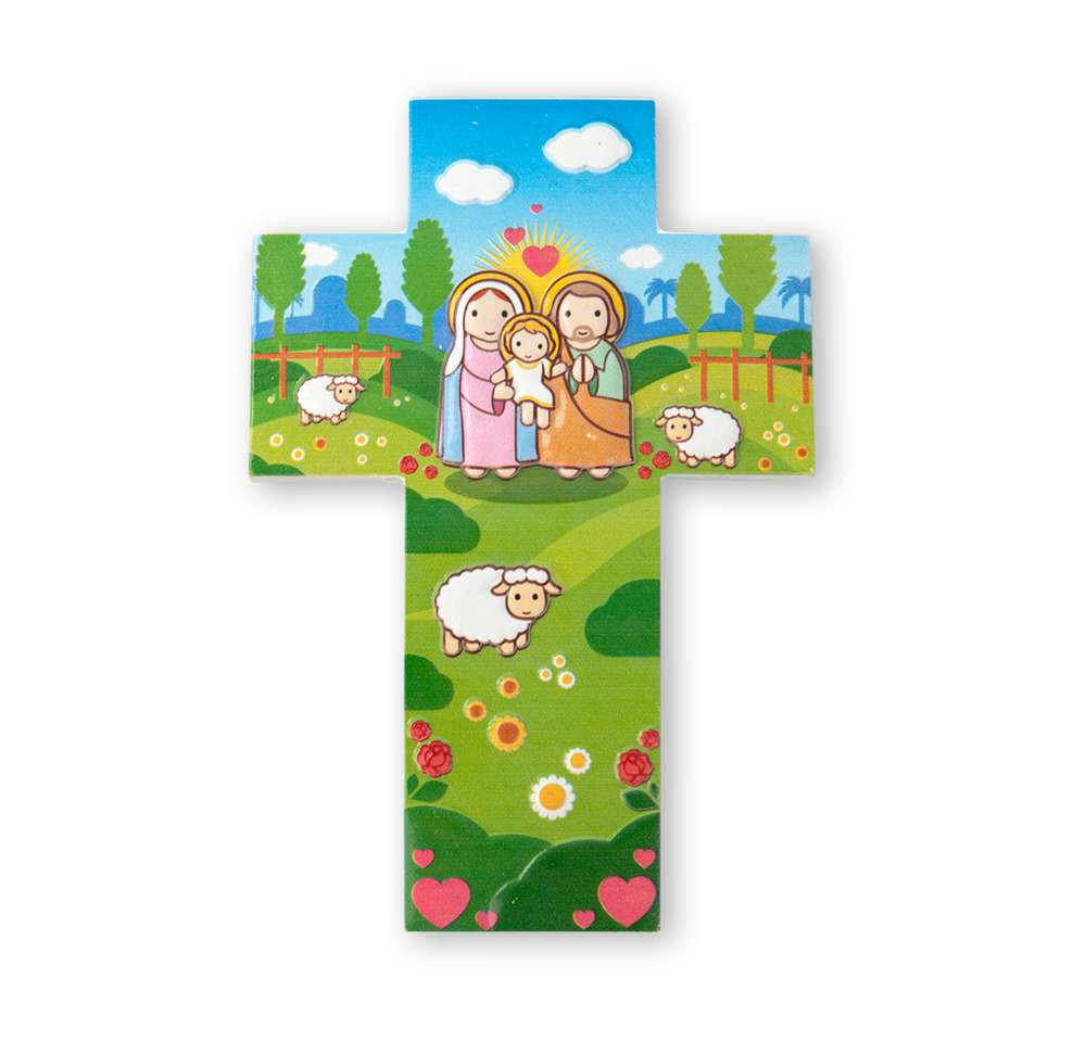 Holy Family Wall Cross