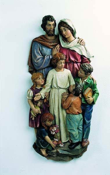 Holy Family with Children-3/4 Wall Relief