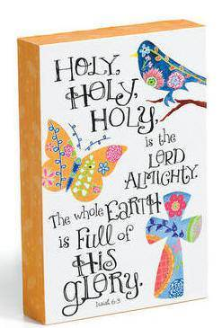 Holy, Holy, Holy Wall Plaque  plaque, wall plaque, standing plaque, inspirational message, wood composite plaque, sculpture plaque,art work, religious art, art, wall decor, home decor,