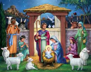 Holy Manger Christmas 1000 Piece Puzzle