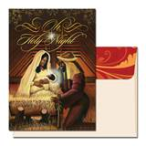 """Holy Night"" Black Nativity African American Christmas Cards"