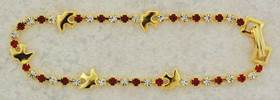 Holy Spirit Bracelet confirmation bracelet, crystal and ruby bracelet, gold plated, sponser gift, confirmation gift, holy spirit, boy gift, girl gift, unique gift,