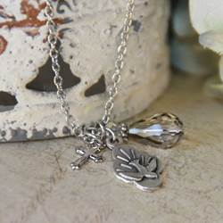 Holy Spirit Charm Necklace