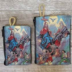 Holy Trinity Woven Rosary Pouch from Turkey
