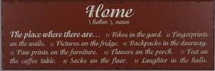 """Home"" Wood Plaque wood plaque, wood wall art, family art, definition of home, art work, religious art, art, wall decor, home decor,"