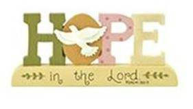 Hope Block Sign with Dove block sign, home decor, hope sign, colorful sign, dove on base, table top plaque, 1511-10125