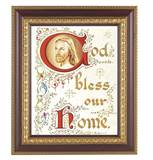 House Blessing 8 x 10 Cherry & Gold Framed Print