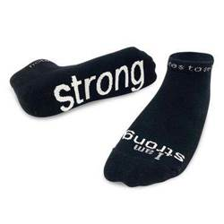 I Am Strong Black Low-cut Socks - Large
