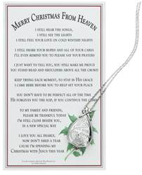 I Am With You Always Keepsake Locket with Merry Christmas from Heaven Prayer Card
