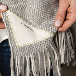 I Am With You Prayer Shawl - Cream