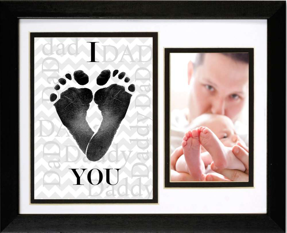 I Heart Daddy Footprint Frame