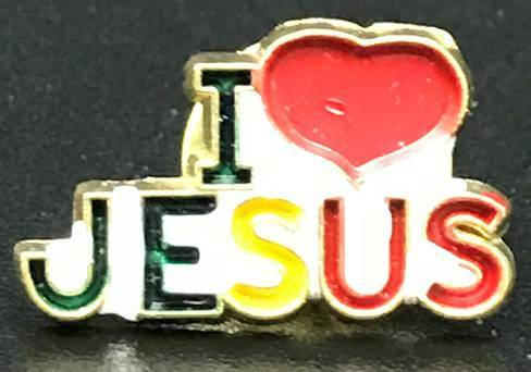 I Love Jesus Lapel Pin 25/PK