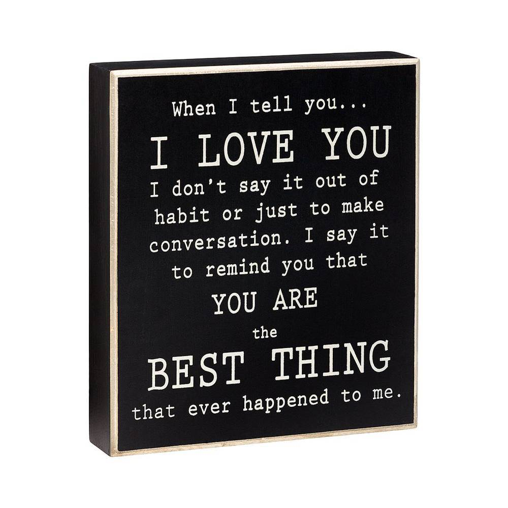 I Love You Box Sign cmas15b, box sign, box message holder, home decor, inspriational message, house gift, PS-4250